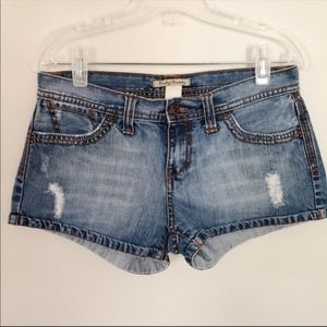 Lucky Brand Distressed Jean Shorts. Size 4 or 27